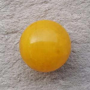 7.3克24mm鸡油黄蜜蜡大圆珠