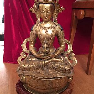 45厘米铜鎏金佛像