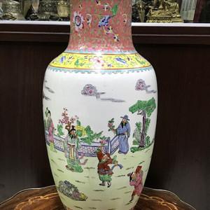 100116 建国初粉彩人物故事大瓶