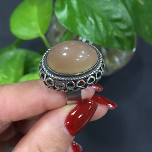 8040银嵌玛瑙戒指