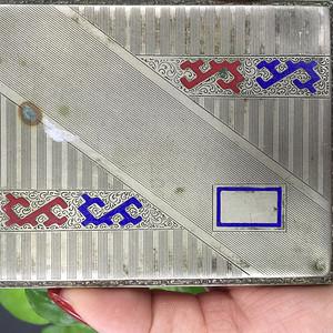 8059欧洲合成银工艺珐琅烟盒