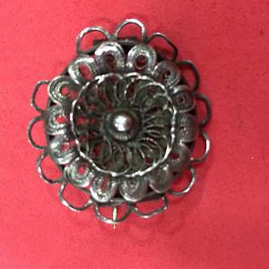 8061银掐丝胸针