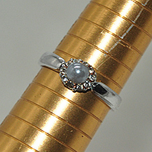 2.2克镶珍珠戒指