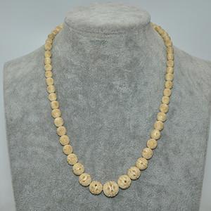 17.5克骨雕球珠项链