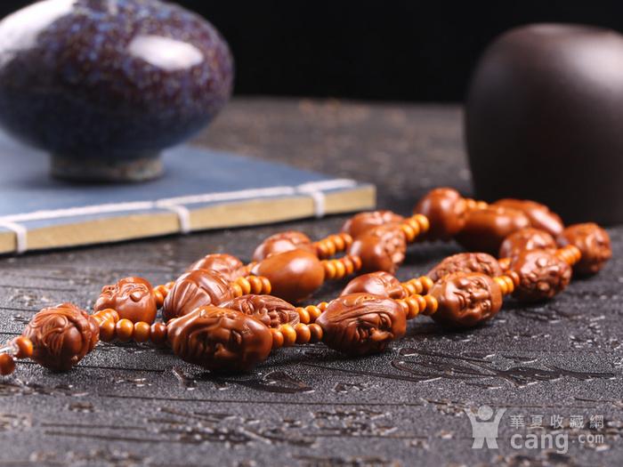 小泉老师作品 精品天然橄榄核雕十八罗汉长串图2