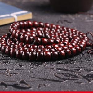 纯天然印度老料满金星小叶紫檀佛珠手串6 8.5mm