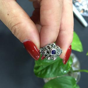 8089欧洲老手工银戒指