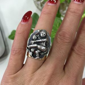 8110欧洲工艺老银戒指