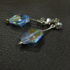 8124七彩琉璃银耳环