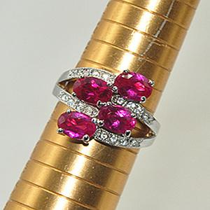 4.8克镶水晶戒指
