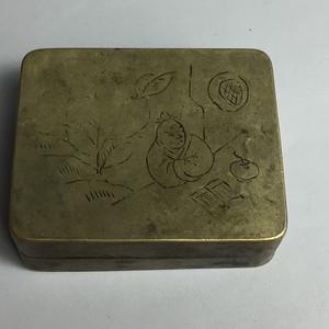 民国铜墨盒
