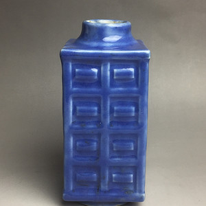 晚清蓝釉棕瓶!