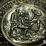 金牌 欧洲铜雕历史故事画