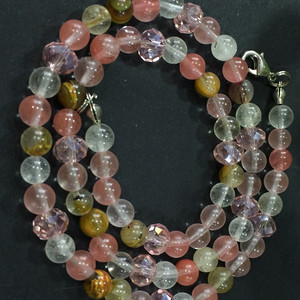 8149多色水晶项链