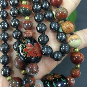 8157欧洲老琉璃珠毛衣链