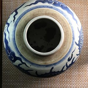 青花龙纹茶叶罐