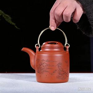 名称 牛盖洋桶壶 有内壁章
