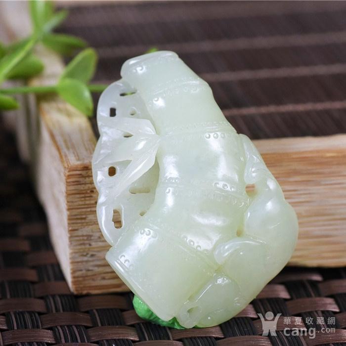 和田玉  且末 黄口料  美福竹  节节高升图2