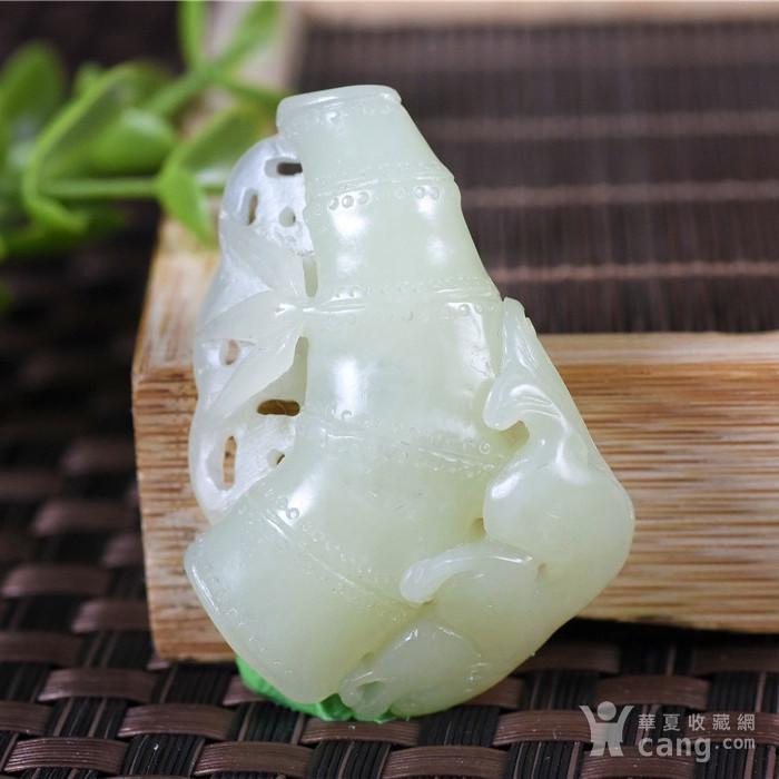 和田玉  且末 黄口料  美福竹  节节高升图3