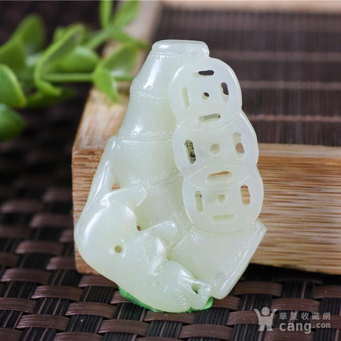 和田玉  且末 黄口料  美福竹  节节高升图4