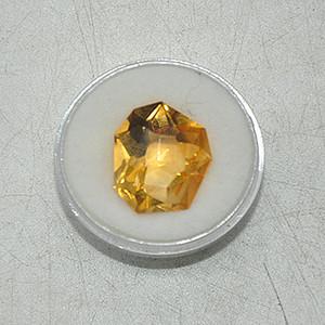 10克拉黄水晶戒面