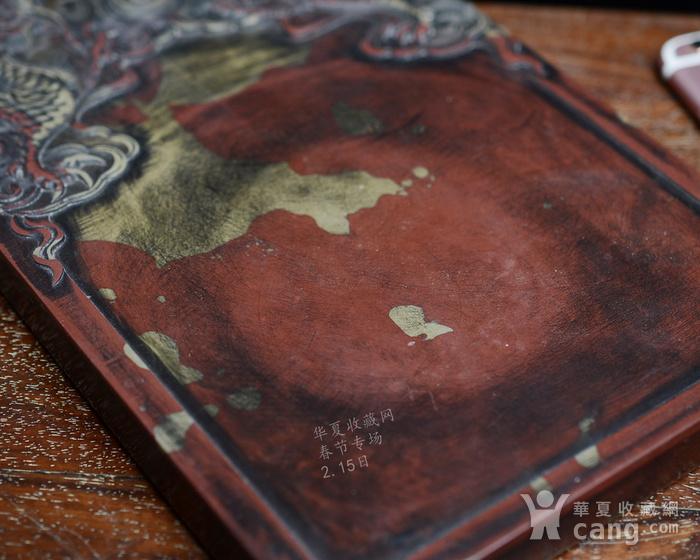红石砚 双龙纹砚台图4