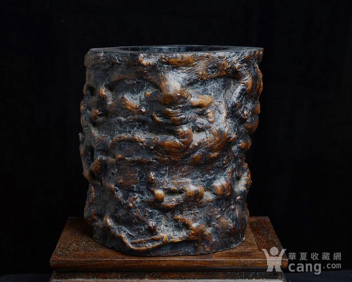 红木 文房特大笔筒 木质坚实细腻 重8公斤图1