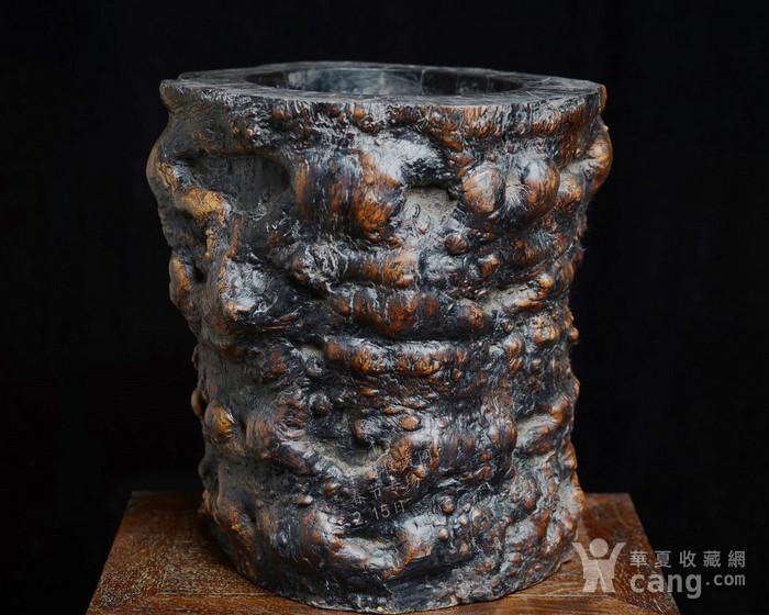 红木 文房特大笔筒 木质坚实细腻 重8公斤图4