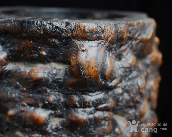 红木 文房特大笔筒 木质坚实细腻 重8公斤图6