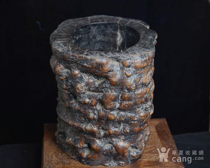 红木 文房特大笔筒 木质坚实细腻 重8公斤图10