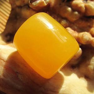 鸡油黄 蜜蜡 桶珠