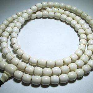 亚洲 莲花纹 老形 桶珠 108粒 链
