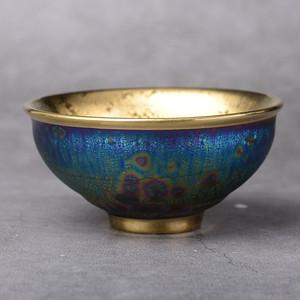 天目黄金油滴盏纯手工品茗杯
