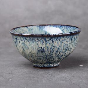 天目建盏花釉茶碗单杯子