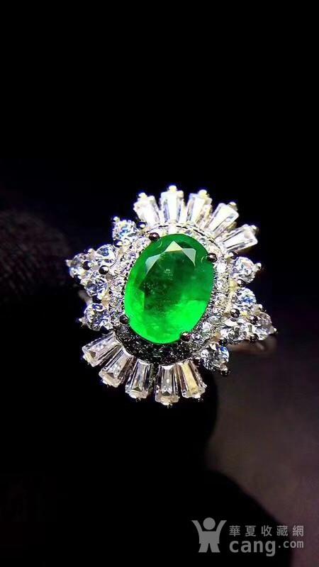 纯天然哥伦比亚祖母绿戒指图2