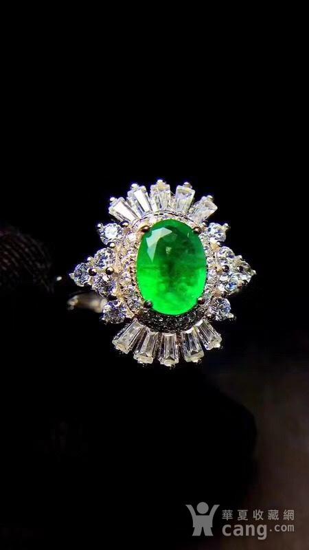 纯天然哥伦比亚祖母绿戒指图4