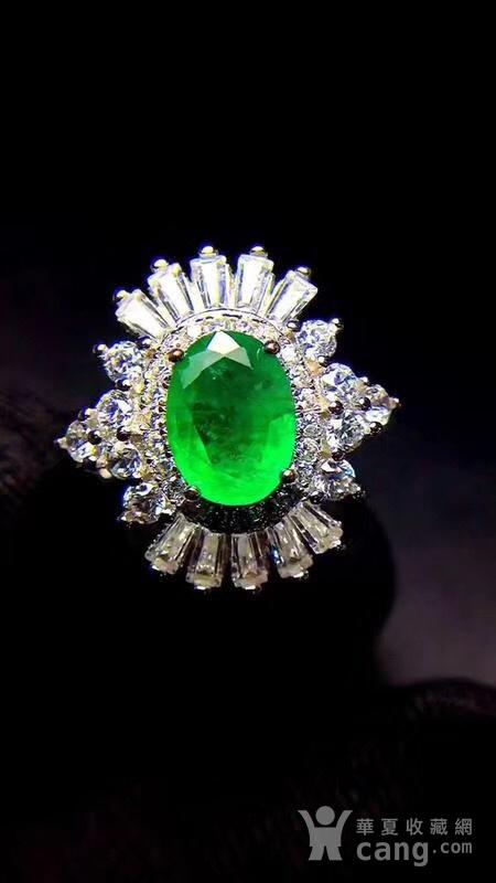 纯天然哥伦比亚祖母绿戒指图1