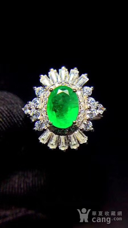 纯天然哥伦比亚祖母绿戒指图3