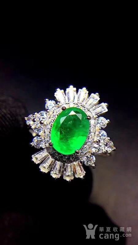 纯天然哥伦比亚祖母绿戒指图8
