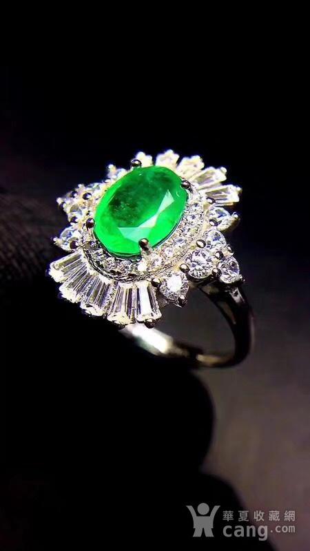 纯天然哥伦比亚祖母绿戒指图5
