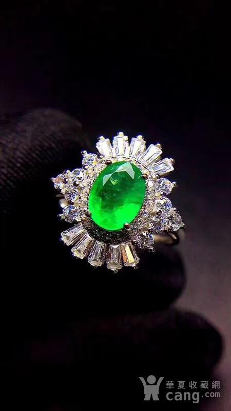 纯天然哥伦比亚祖母绿戒指图7