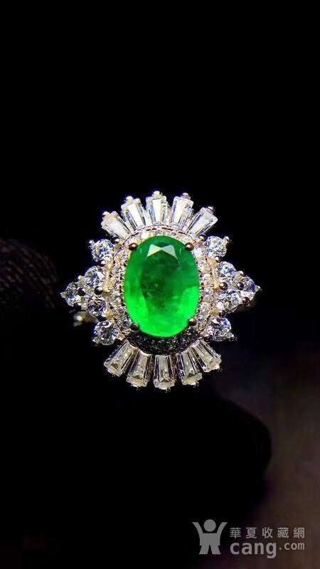 纯天然哥伦比亚祖母绿戒指图6
