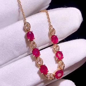 天然红宝石手链
