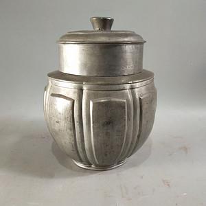 包浆漂亮的老锡罐 茶叶罐