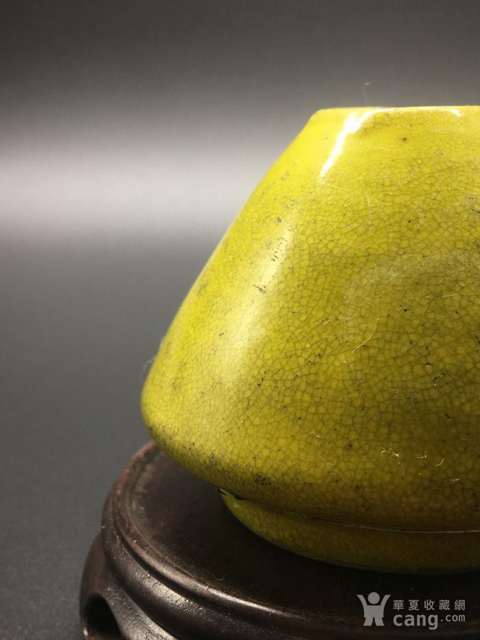 清晚期黄釉水盂图6