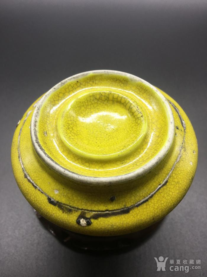 清晚期黄釉水盂图8