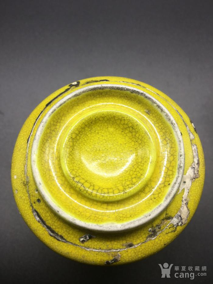 清晚期黄釉水盂图10