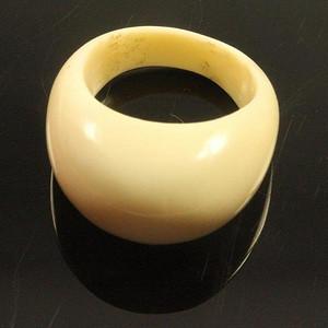金牌 回流老首饰 材质饱满形素面戒指3.3g 男女佳可