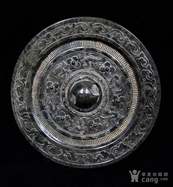 日本回流的高古水银沁青铜镜图1