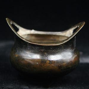 日本回流的清代桥耳香炉 保真